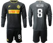 Wholesale Cheap Inter Milan #8 Vecino Third Long Sleeves Soccer Club Jersey
