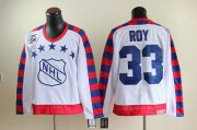Wholesale Cheap Canadiens #33 Patrick Roy White All Star CCM Throwback 75TH Stitched NHL Jersey