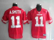 Wholesale Cheap 49ers Alex Smith #11 Stitched Red NFL Jersey