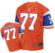 Wholesale Cheap Nike Broncos #77 Karl Mecklenburg Orange Men's Stitched NFL Elite Throwback Jersey