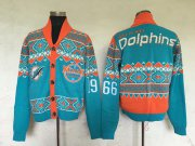 Wholesale Cheap Nike Dolphins Men's Ugly Sweater_1