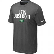 Wholesale Cheap Nike New York Jets Just Do It Dark Grey T-Shirt