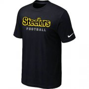 Wholesale Cheap Nike Pittsburgh Steelers Sideline Legend Authentic Font Dri-FIT NFL T-Shirt Black