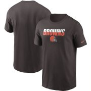 Wholesale Cheap Cleveland Browns Nike Split T-Shirt Brown