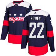 Wholesale Cheap Adidas Capitals #22 Madison Bowey Navy Authentic 2018 Stadium Series Stitched NHL Jersey