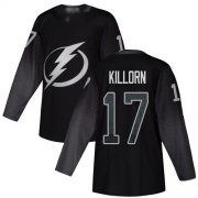 Cheap Adidas Lightning #17 Alex Killorn Black Alternate Authentic Youth Stitched NHL Jersey