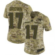 Wholesale Cheap Nike Patriots #17 Antonio Brown Camo Women's Stitched NFL Limited 2018 Salute to Service Jersey