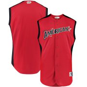 Wholesale Cheap American League Blank Majestic 2019 MLB All-Star Game Workout Team Jersey Red Navy