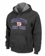Wholesale Cheap New York Giants Heart & Soul Pullover Hoodie Dark Grey