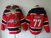 Wholesale Cheap Capitals #77 T.J Oshie Red Sawyer Hooded Sweatshirt Stitched NHL Jersey