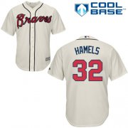 Wholesale Cheap Braves #32 Cole Hamels Cream New Cool Base Stitched Youth MLB Jersey
