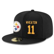 Wholesale Cheap Pittsburgh Steelers #11 Markus Wheaton Snapback Cap NFL Player Black with Gold Number Stitched Hat