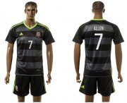 Wholesale Cheap Wales #7 Allen Black Away Soccer Club Jersey
