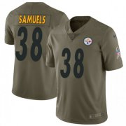 Wholesale Cheap Nike Steelers #38 Jaylen Samuels Olive Men's Stitched NFL Limited 2017 Salute to Service Jersey