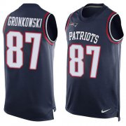 Wholesale Cheap Nike Patriots #87 Rob Gronkowski Navy Blue Team Color Men's Stitched NFL Limited Tank Top Jersey