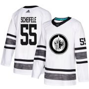 Wholesale Cheap Adidas Jets #55 Mark Scheifele White Authentic 2019 All-Star Stitched Youth NHL Jersey