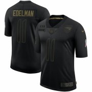 Cheap New England Patriots #11 Julian Edelman Nike 2020 Salute To Service Limited Jersey Black