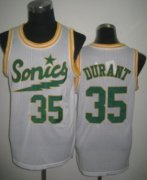 Wholesale Cheap Seattle Supersonics #35 Kevin Durant 2003-04 White Swingman Jersey