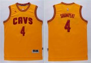 Wholesale Cheap Men's Cleveland Cavaliers #4 Iman Shumpert Revolution 30 Swingman 2014 New Yellow Jersey