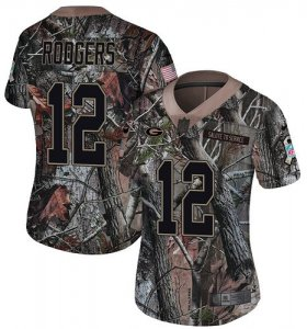 Wholesale Cheap Nike Packers #12 Aaron Rodgers Camo Women\'s Stitched NFL Limited Rush Realtree Jersey