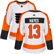 Wholesale Cheap Adidas Flyers #13 Kevin Hayes White Road Authentic Women's Stitched NHL Jersey