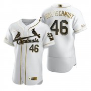 Wholesale Cheap St. Louis Cardinals #46 Paul Goldschmidt White Nike Men's Authentic Golden Edition MLB Jersey