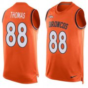 Wholesale Cheap Nike Broncos #88 Demaryius Thomas Orange Team Color Men's Stitched NFL Limited Tank Top Jersey