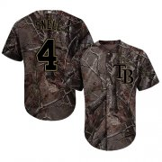 Wholesale Cheap Rays #4 Blake Snell Camo Realtree Collection Cool Base Stitched Youth MLB Jersey