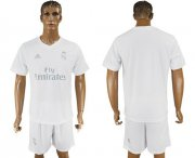 Wholesale Cheap Real Madrid Blank Marine Environmental Protection Home Soccer Club Jersey