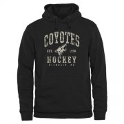 Wholesale Cheap Men's Arizona Coyotes Black Camo Stack Pullover Hoodie