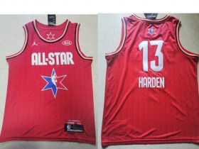 Wholesale Cheap Men\'s Houston Rockets #13 James Harden Red Jordan Brand 2020 All-Star Game Swingman Stitched NBA Jersey