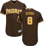 Wholesale Cheap Padres #8 Erick Aybar Brown Flexbase Authentic Collection Stitched MLB Jersey