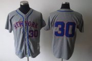 Wholesale Cheap Mitchell and Ness 1969 Mets #30 Nolan Ryan Grey Stitched MLB Jersey