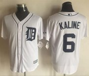 Wholesale Cheap Tigers #6 Al Kaline White New Cool Base Stitched MLB Jersey