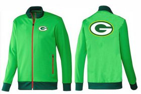 Wholesale Cheap NFL Green Bay Packers Team Logo Jacket Green_1