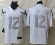 Wholesale Cheap Nike Seahawks #12 Fan White Men's Stitched NFL Limited Platinum Jersey