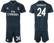 Wholesale Cheap Real Madrid #24 D.Ceballos Away Soccer Club Jersey