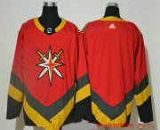 Wholesale Cheap Men's Vegas Golden Knights Blank Red Adidas 2020-21 Alternate Authentic Player NHL Jersey