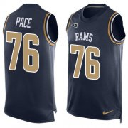 Wholesale Cheap Nike Rams #76 Orlando Pace Navy Blue Team Color Men's Stitched NFL Limited Tank Top Jersey