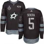 Wholesale Cheap Adidas Stars #5 Andrej Sekera Black 1917-2017 100th Anniversary 2020 Stanley Cup Final Stitched NHL Jersey