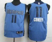 Wholesale Cheap Men's Memphis Grizzlies #11 Mike Conley New Light Blue 2017-2018 Nike Authentic Stitched NBA Jersey