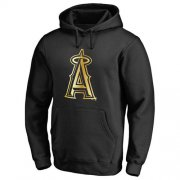 Wholesale Cheap Los Angeles Angels of Anaheim Gold Collection Pullover Hoodie Black