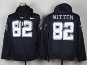 Wholesale Dallas Cowboys #82 Jason Witten Navy Blue Pullover NFL Hoodie