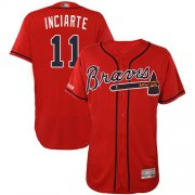 Wholesale Cheap Braves #11 Ender Inciarte Red Flexbase Authentic Collection Stitched MLB Jersey