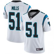 Wholesale Cheap Nike Panthers #51 Sam Mills White Men's Stitched NFL Vapor Untouchable Limited Jersey