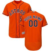 Wholesale Cheap Houston Astros Majestic Alternate Flex Base Authentic Collection Custom Jersey Orange