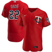 Wholesale Cheap Minnesota Twins #22 Miguel Sano Men's Nike Red Alternate 2020 Authentic Player MLB Jersey