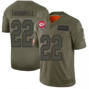 Wholesale Cheap Nike Chiefs #22 Juan Thornhill Camo Youth Stitched NFL Limited 2019 Salute to Service Jersey