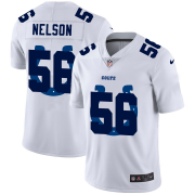 Wholesale Cheap Indianapolis Colts #56 Quenton Nelson White Men's Nike Team Logo Dual Overlap Limited NFL Jersey