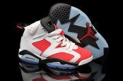 Wholesale Cheap AIR JORDAN 6 Carmine GS Shoes Red/white-black